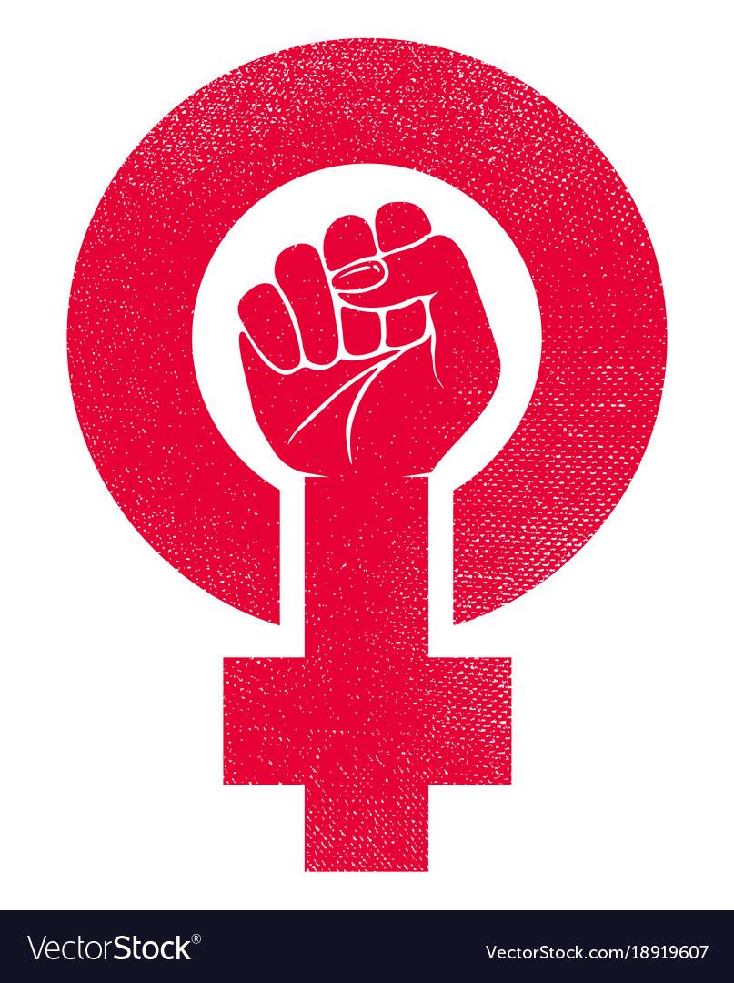 female-gender-symbol-with-raised-fist-vector-18919607